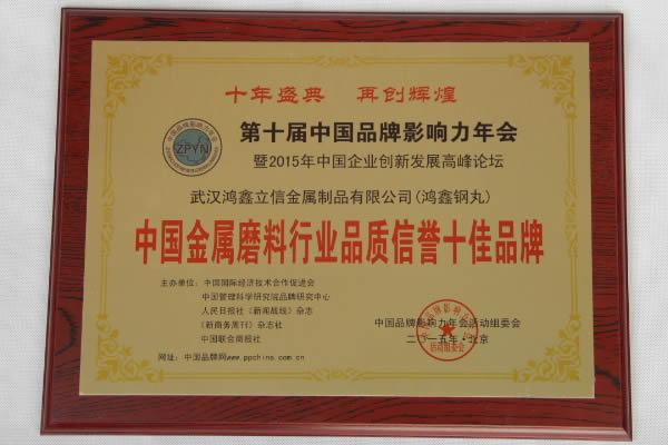 中国金属磨料行业用户满意首选品牌